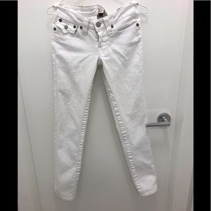 True religion White low rise jeans 26